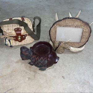 Outdoor hunting and fishing decor